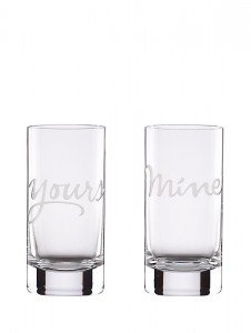 Kate Spade Etched Glasses